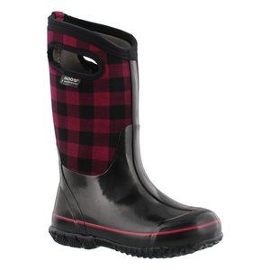 Bogs Unisex Classic Buff Plaid Winter Snow Boot
